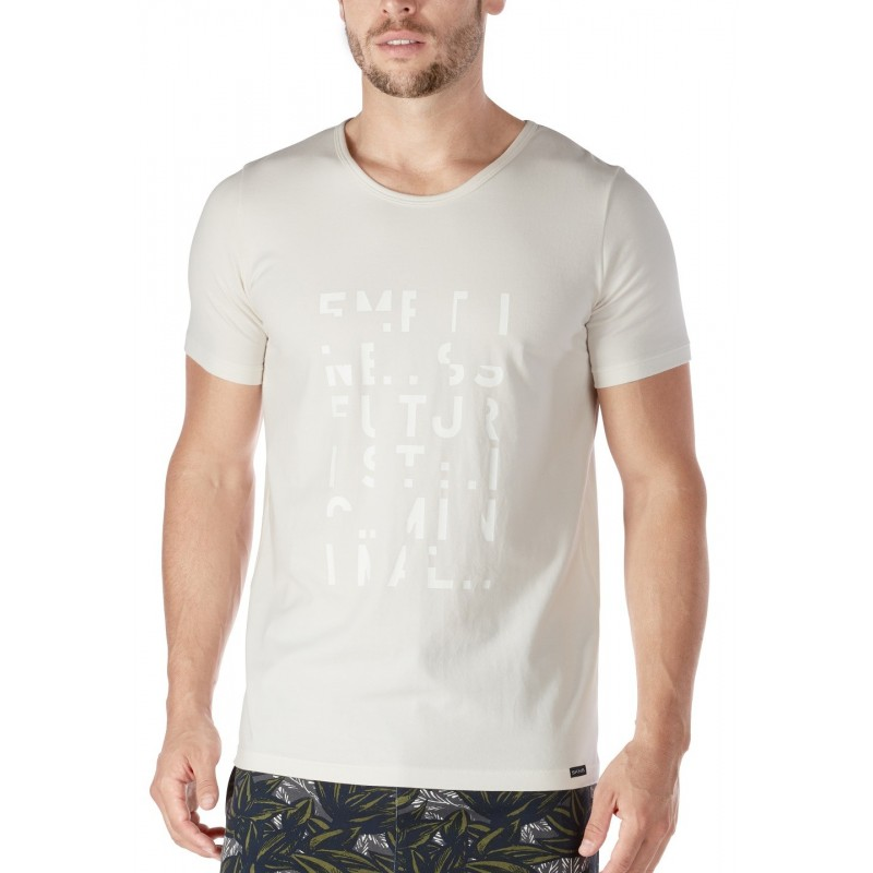 Camiseta manga corta blanca Skiny