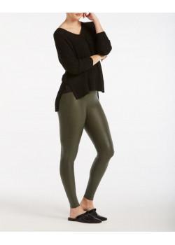 Leggings efecto cuero verde...