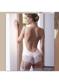 Body escote espalda novias