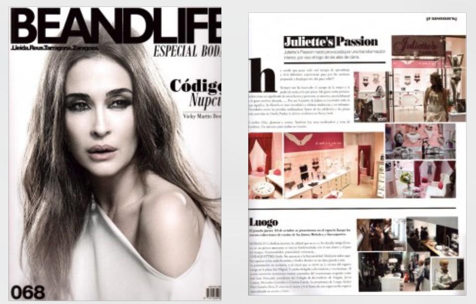 Primera publicación en prensa!! Revista Be&Life